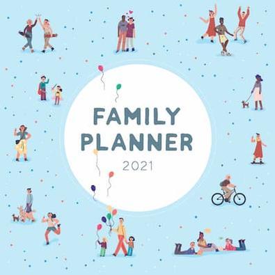 2021 Family Planner Calendar cover