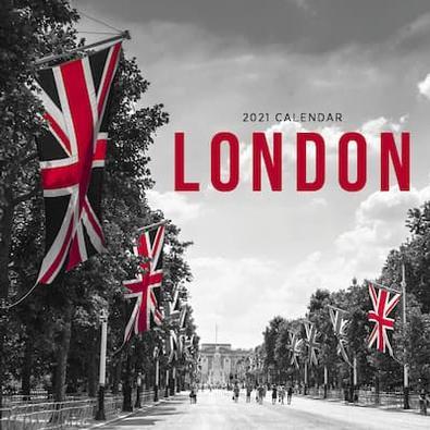 London 2021 Calendar cover
