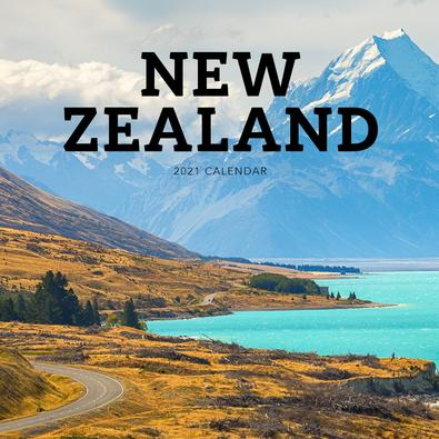 2021 New Zealand Calendar cover