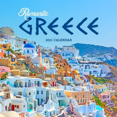 2021 Romantic Greece Calendar cover