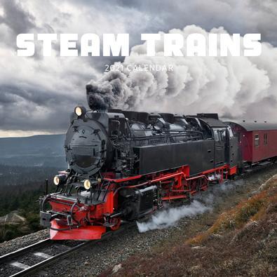 2021 Steam Trains Calendar cover