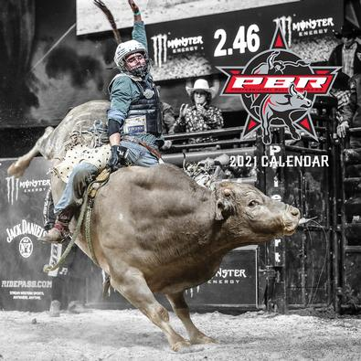 2021 PBR (Professional Bull Riding) Calendar cover