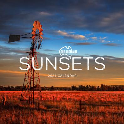 2021 Our Australia Sunsets Calendar cover