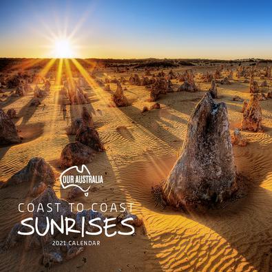 2021 Our Australia Coast to Coast Sunrise Calendar cover