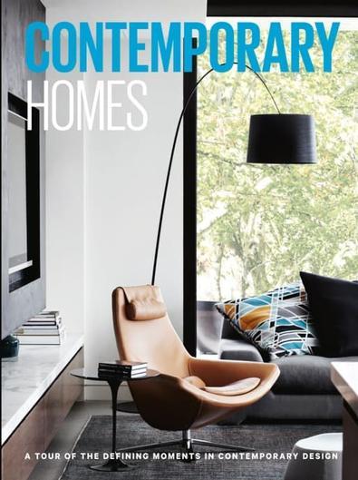 Contemporary Homes magazine cover
