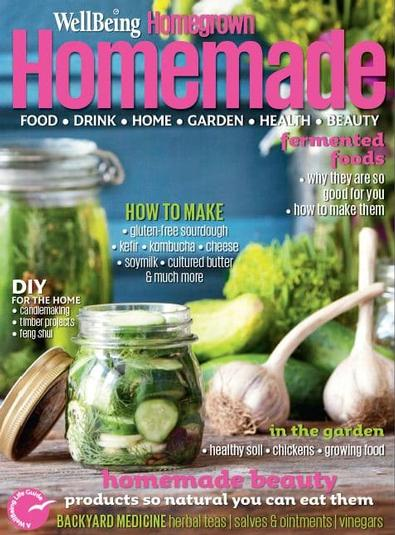 Wellbeing Homegrown Homemade magazine cover