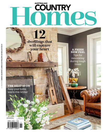 Australian Country Homes magazine cover