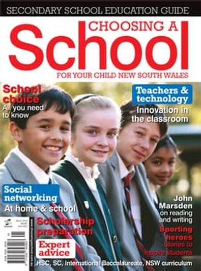 Choosing A School For Your Child-NSW magazine cover