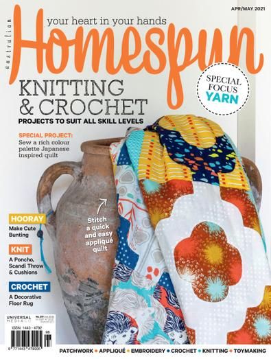 Australian Homespun magazine cover
