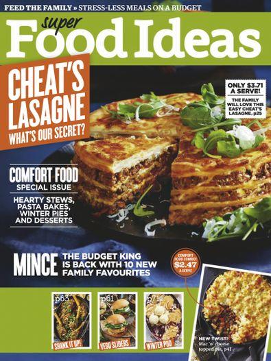 Super Food Ideas magazine cover