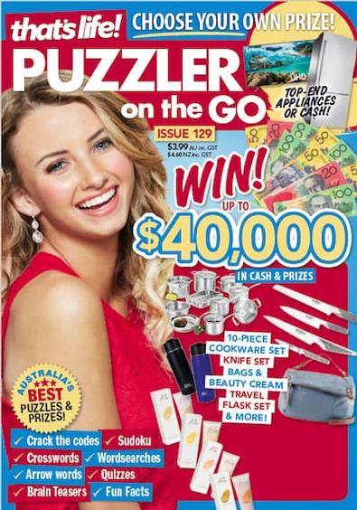 That's Life Puzzler On The Go magazine cover