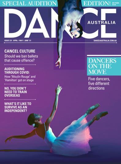 Dance Australia magazine cover
