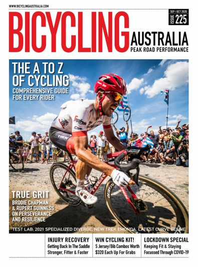Bicycling Australia magazine cover