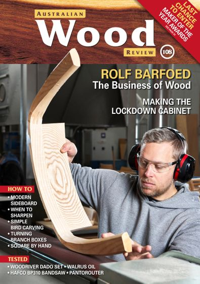 Australian Wood Review magazine cover