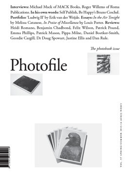 Photofile Vol 97 - The photobook issue cover