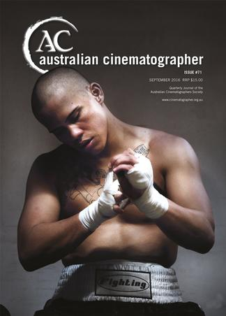 Australian Cinematographer magazine cover