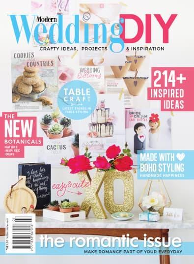 Modern Wedding DIY magazine cover