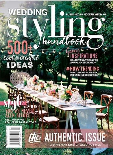 Modern Wedding Styling Handbook magazine cover