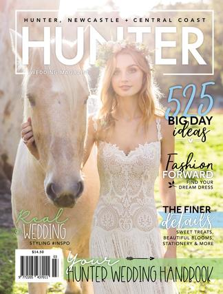 Hunter Wedding magazine cover