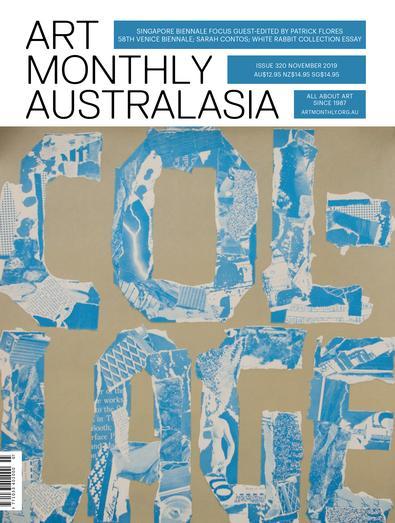 Art Monthly Australasia magazine cover