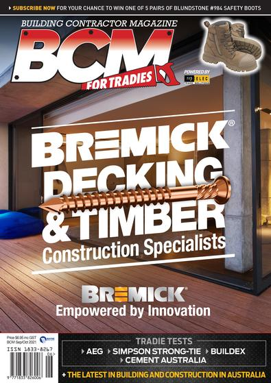 Building Contractor Magazine cover