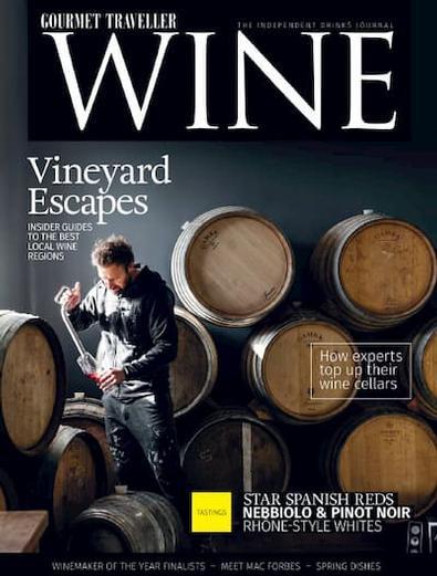 Gourmet Traveller Wine magazine cover