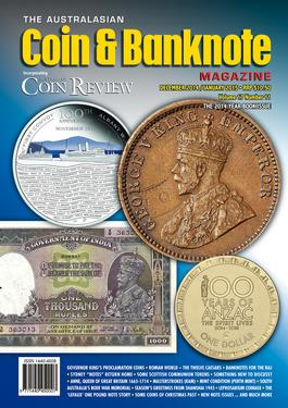 Australasian Coin & Banknote Magazine cover