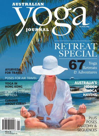 Australian Yoga Journal magazine cover