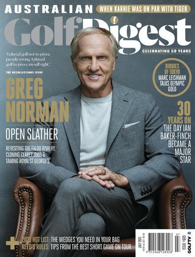 Australian Golf Digest magazine cover