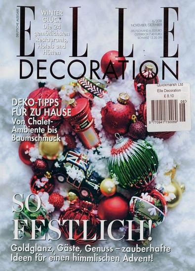 Elle Decoration (Germany) magazine cover