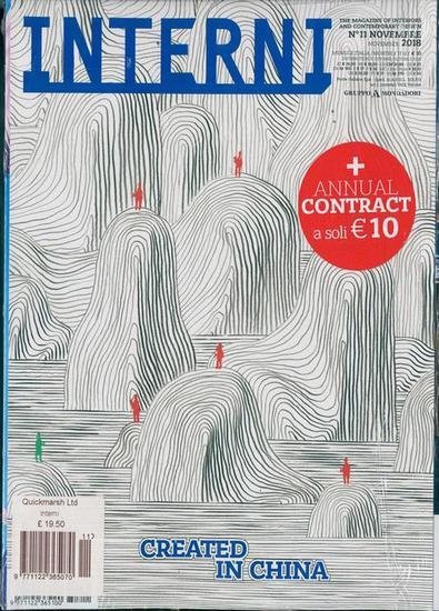 Interni (Italy) magazine cover