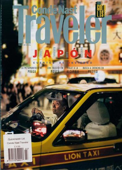 Conde Nast Traveller Espana magazine cover