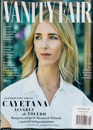 Vanity Fair Espana magazine cover