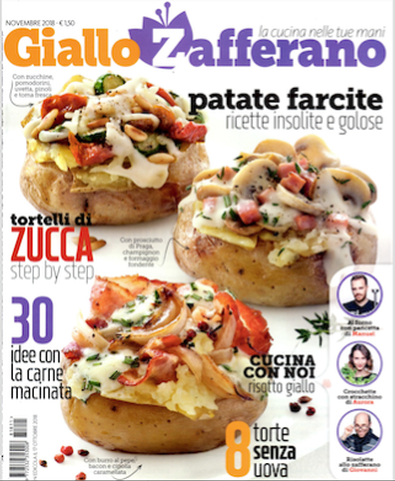 Giallo Zafferano (Italy) magazine cover