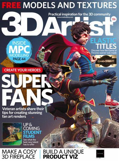 3D Artist digital cover