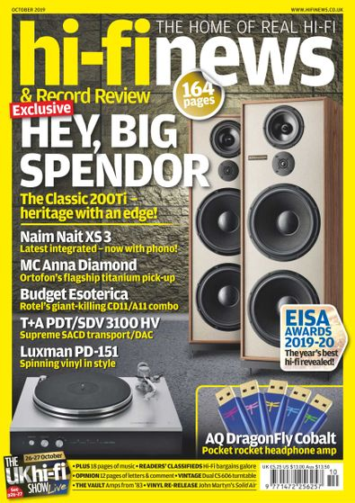 Hi Fi News digital cover