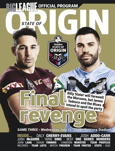 Big League: NRL State of Origin digital cover