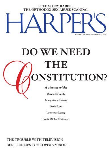 Harper's Magazine digital cover