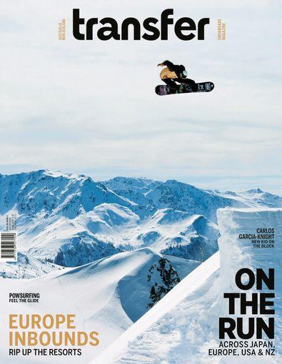 Transfer Snowboard Magazine digital cover