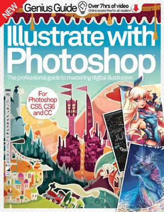 Illustrate with Photoshop Genius Guide digital cover
