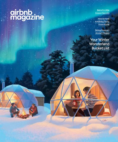 AirBnb Magazine digital cover