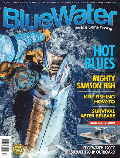 BlueWater Boats & Game Fishing magazine cover
