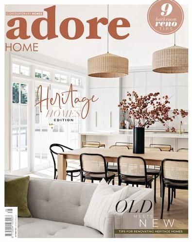 Adore Home Magazine cover