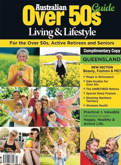 Australian Over 50's Living & Lifestyle Guide QLD magazine cover
