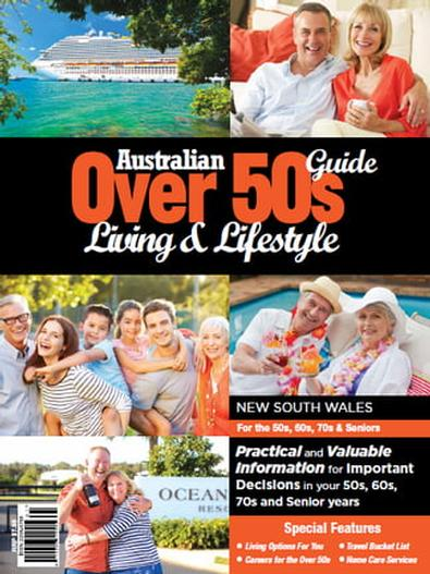 Australian Over 50s Living & Lifestyle Guide NSW magazine cover