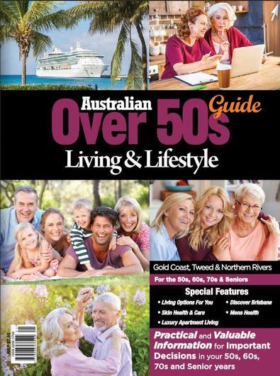 Australian Over 50's Living & Lifestyle Guide GCT magazine cover
