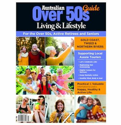 Australian Over 50's Living & Lifestyle Guide GCT magazine cover