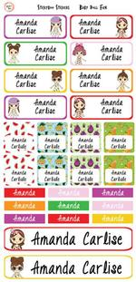 Baby Doll Fun Personalised Stickers thumbnail