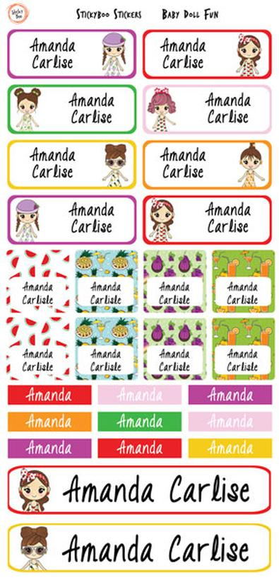 Baby Doll Fun Personalised Stickers cover