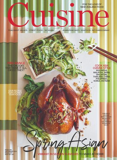 Cuisine (NZ) magazine cover